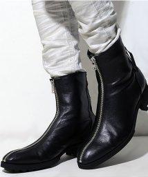 CIVARIZE/CIVARIZE【シヴァーライズ】Jerk牛革フロントジップショートブーツ/500897760