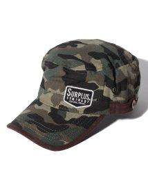 STYLEBLOCK/『SURPLUS』ワッペン&サイドタブ付き スエード切替 ワークキャップ/500600765