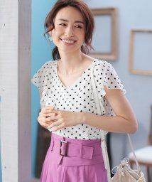 PROPORTION BODY DRESSING/★【美人百花 5月号掲載】ラッフルプリントブラウス/500898088