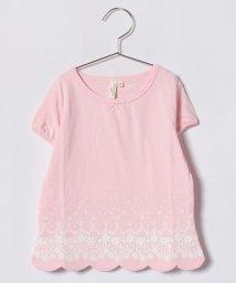 LAGOM/オーガビッツ裾レースプリントTシャツ/500880200