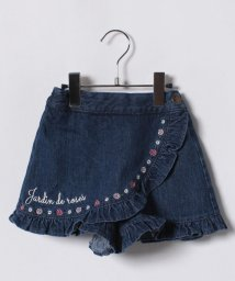 axes femme kids/刺繍入デニムラップキュロット/500886815