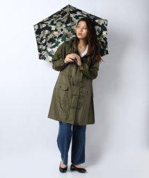CARA O CRUZ/【レイン】ポーチ付きコートと折りたたみ傘(迷彩)/500893086