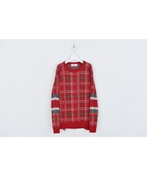 DISCOVERED/Check line sweater/500899330
