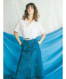 Mila Owen/フロントボタンフレアデニムスカート/500901885