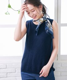 ROPE' PICNIC/【50TH SPECIAL COLLECTION 辻直子監修】麻混ノースリーブニットトップス/500902286