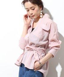 ViS/【WEB限定】ボリュームベルテッドシャツ/500845871