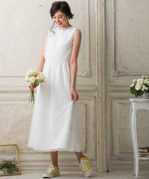 form forma/【結婚式・ウェディングドレス】kaene/ギャザーフレアワンピース&ドットチュールワンピース セットアップドレス/500900485
