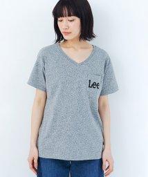 haco!/Lady Lee ポケットロゴVネックTシャツ/500901714