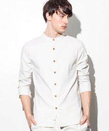 JH junhashimoto/JH junhashimoto(ジェイエイチ ジュンハシモト) ストレッチリネンスタンドカラーシャツ/500903002