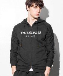1PIU1UGUALE3 RELAX/1PIU1UGUALE3 RELAX(ウノピゥウノウグァーレトレ) ロゴフードパーカ/500903365