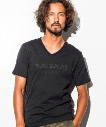 1PIU1UGUALE3 RELAX/1PIU1UGUALE3 RELAX(ウノピゥウノウグァーレトレ) 刺繍ロゴVネックTシャツ/500903389