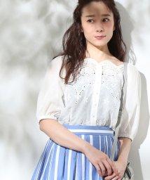 ViS/【マルチWAY】パンチングレースボリューム袖ブラウス/500904921