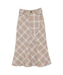 titivate/チェックアレンジマーメードスカート/500905139