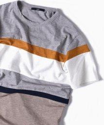 SHIPS MEN/SC: パッチワーク ボーダー Tシャツ/500906434