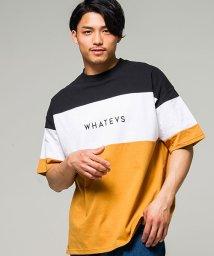CavariA/CavariA【キャバリア】切替配色ビッグシルエットクルーネック半袖Tシャツ/500906621