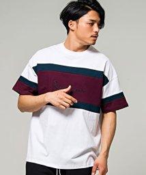CavariA/CavariA【キャバリア】切替配色ビッグシルエットクルーネック半袖Tシャツ/500906622