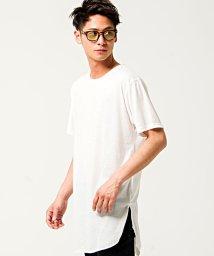 CavariA/CavariA【キャバリア】天竺ロング丈半袖Tシャツ/500906624