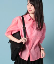 beautiful people/cotton silk organdyshort sleeve shirt/500654118