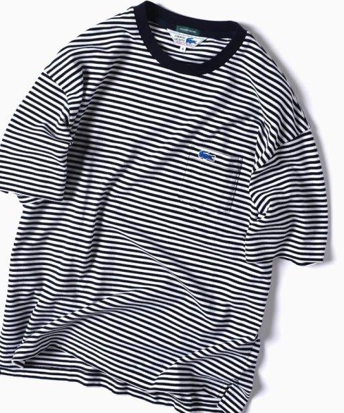 SHIPS MEN(シップス メン)/LACOSTE: 別注 ドロップテイル ビッグ ポケット Tシャツ/112115024