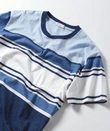 SHIPS JET BLUE/SHIPS JET BLUE: マルチボーダーTシャツ/500908263