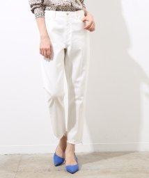 ROPE' mademoiselle/【otonaMUSE5月号掲載】ホワイトデニムフリンジ9分丈パンツ/500898546