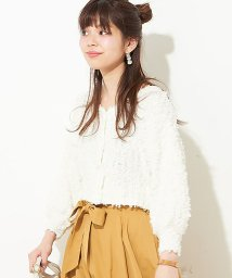 NICE CLAUP OUTLET/【natural couture】ファンシーヤーンふさふさカーディガン/500877681