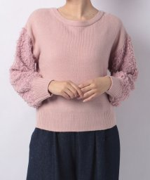 NICE CLAUP OUTLET/【every very nice claup】ファンシーヤーンふさふさ袖プルオーバー/500877683