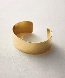 haco!/コーディネイトをキリリと引き締めてくれる ゴールドカラーのシンプルバングル/500901867