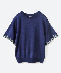 haco!/Tシャツ感覚で着られて華やか見せ カットワークすずらん刺しゅうニット/500901872