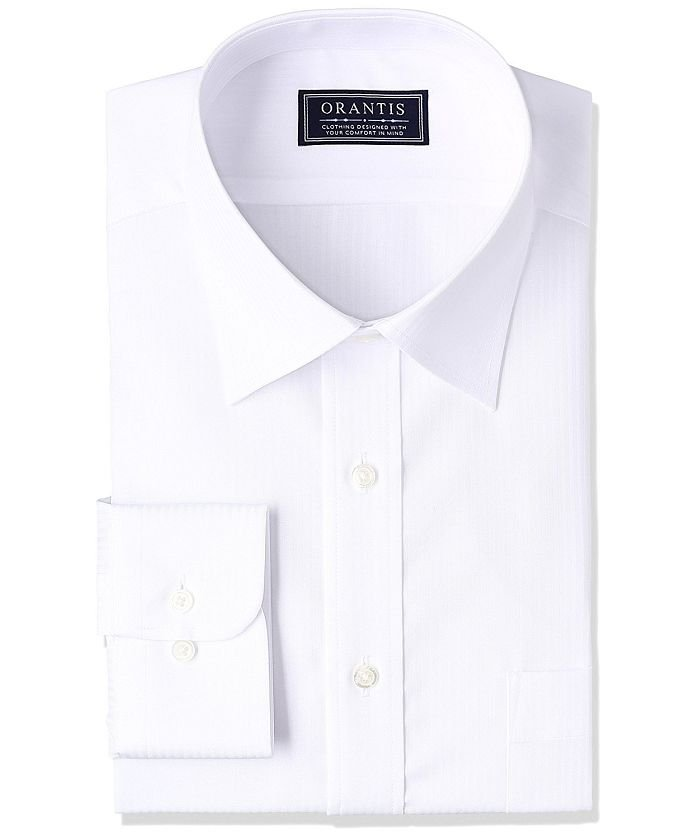 山喜オフィシャルORANTIS 長袖ワイドカラーワイシャツメンズホワイト4274【YAMAKI official】