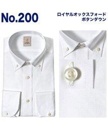 YAMAKI BRAND/JAMES GORDON 長袖ワイドカラーボタンダウンワイシャツ/500904228