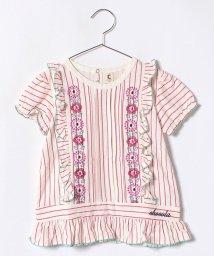 Green Parks(Kids)/花刺繍チュニックTシャツ/500883929