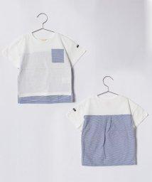 petit main/ポケットつき切り替えボーダーTシャツ/500899136