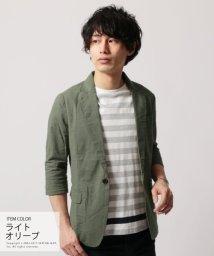 THE CASUAL/(スプ) SPU 綿麻ストレッチ素材 7分袖 テーラードジャケット/500912162