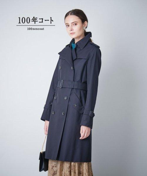 SANYO COAT(サンヨーコート)/<100年コート>ダブルトレンチコート(三陽格子)/T1A73001--
