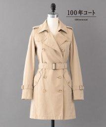 SANYO(WOMEN'S)/<100年コート Aged>ダブルトレンチコート/500913750