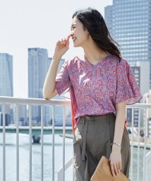 J.PRESS LADIES(LARGE SIZE)/【Liberty Liesl Series】リバティ&ジャージー カットソー/500914378