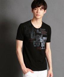 NICOLE CLUB FOR MEN/グラデーションフォトプリントTシャツ/500879581