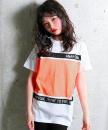ANAP GiRL/配色切替ラインロゴTシャツ/500905615