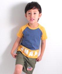 ANAP KIDS/切替ラグランロゴTシャツ/500905638