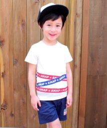 ANAP KIDS/テーププリントTシャツ/500905640