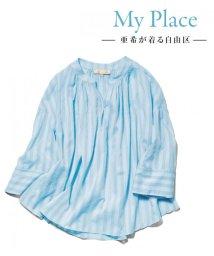 JIYU-KU /【亜希さん着用】イタリア TESSILIDEA  ブラウス(検索番号G27)/500914946