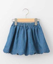 a.v.v(KID'S)/[140-150]裾スカラップデニムスカート/500915181