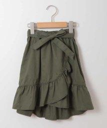 a.v.v(KID'S)/[140-150]サッシュリボン付フリルラップ風スカート/500915191