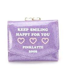 PINK-latte/ジュエルハートグリッター三つ折財布/500917429