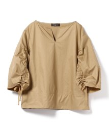 BEAMS OUTLET/【洗える】Demi-Luxe BEAMS / ギャザースリーブ ブラウス/500851388