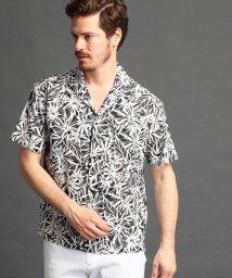 MONSIEUR NICOLE/ボタニカル柄オープンカラーシャツ/500904641