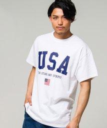 CavariA/CavariA【キャバリア】USAロゴプリントクルーネック半袖Tシャツ/500920808