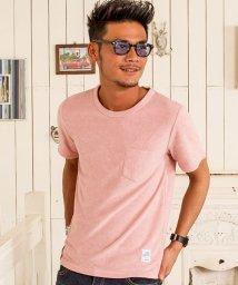 CavariA/CavariA【キャバリア】ポケット付きパイルクルーネック半袖Tシャツ/500920809
