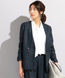 iCB/【セットアップ可】Linen Like OX ダブルブレストジャケット/500920944